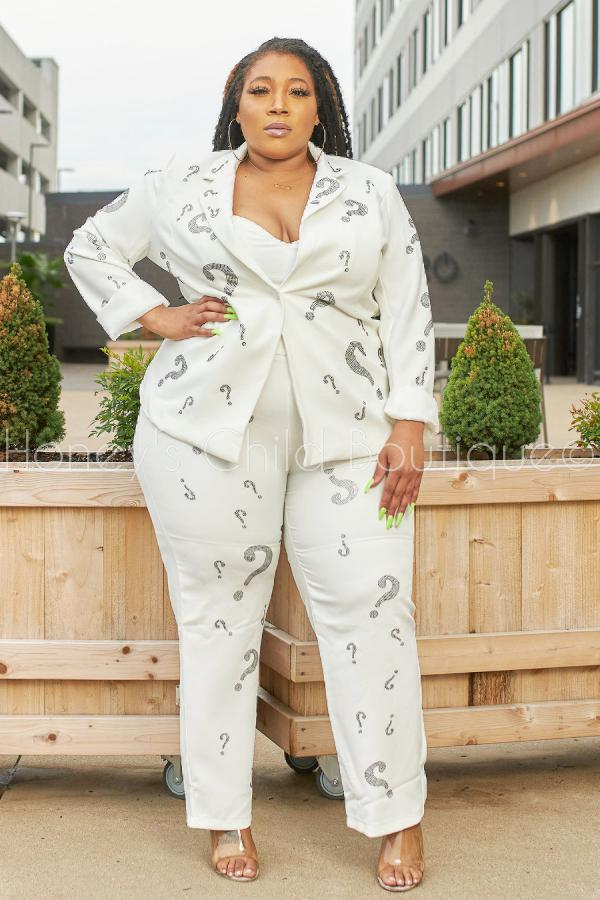 Ask Me Anything Rhinestone Pants Suit-set-Latiste-[plus_size]-Honey's Child Boutique
