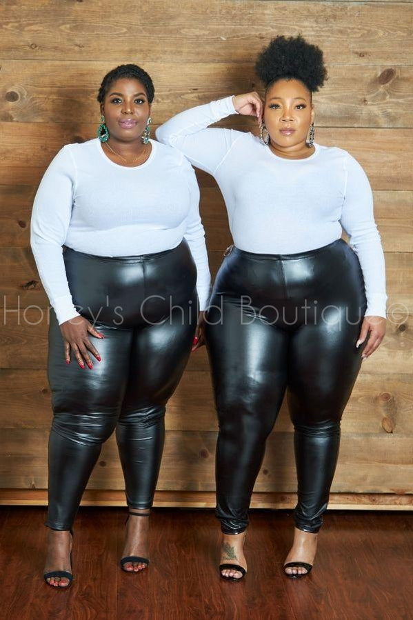 Bad Girl Vegan Leather Leggings-600 Bottoms-Sexy Diva-[plus_size]-Honey's Child Boutique