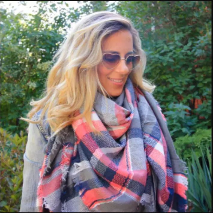 Greys and Pinks Cashmere Blanket Scarf