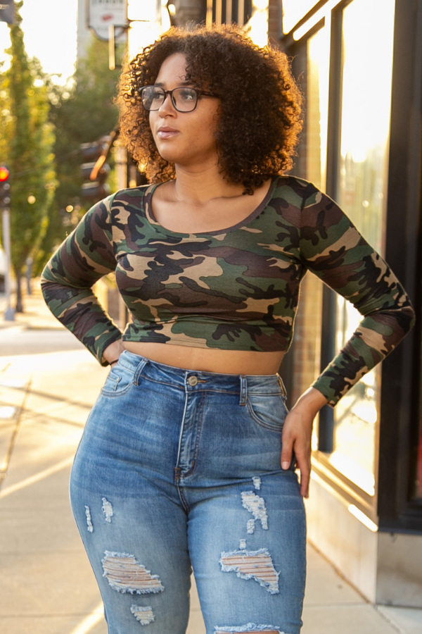 Camouflage Crop Tee