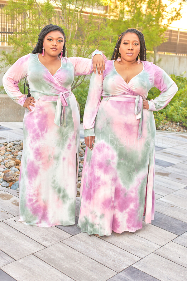 Candy Dreams Tie Dye Maxi Dress-Dress-Sexy Diva-[plus_size]-Honey's Child Boutique