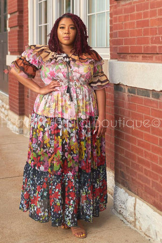 Pink Lemonade Belted Maxi Dress