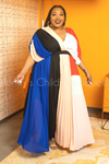Drama Queen Color Block Ruffle Maxi Dress