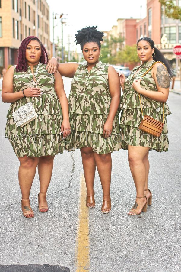 Good Girl Ruffle Mini Dress - Camo-240 Other, Dress-Latiste-[plus_size]-Honey's Child Boutique