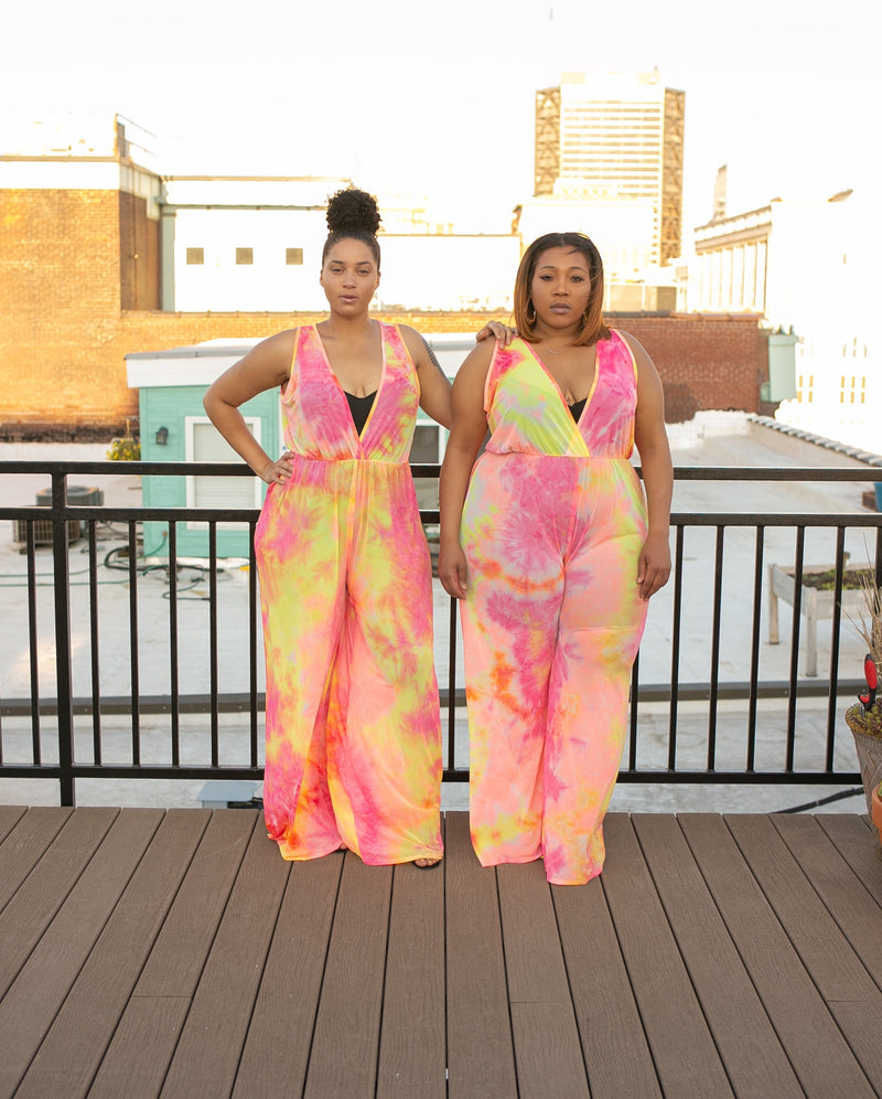 Pink Lemonade Mesh Jumpsuit