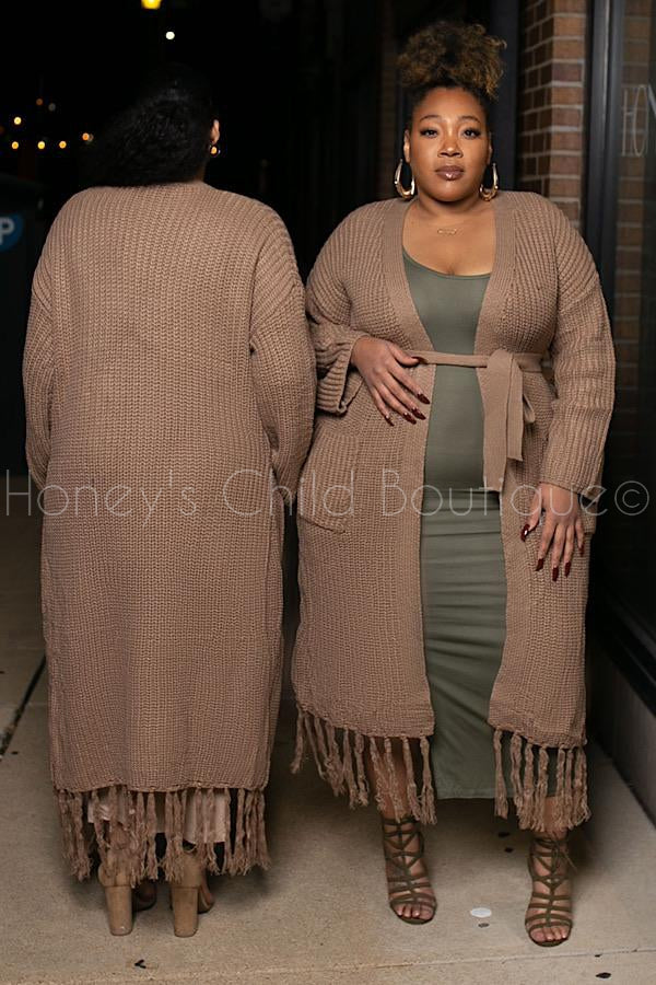 Maxine Maxi Cable Knit Sweater Duster