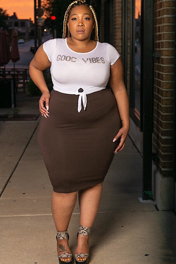 On The Way Pencil Skirt