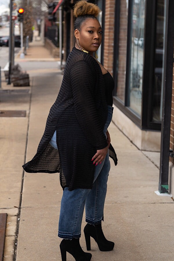 The Cardi Duster - Black