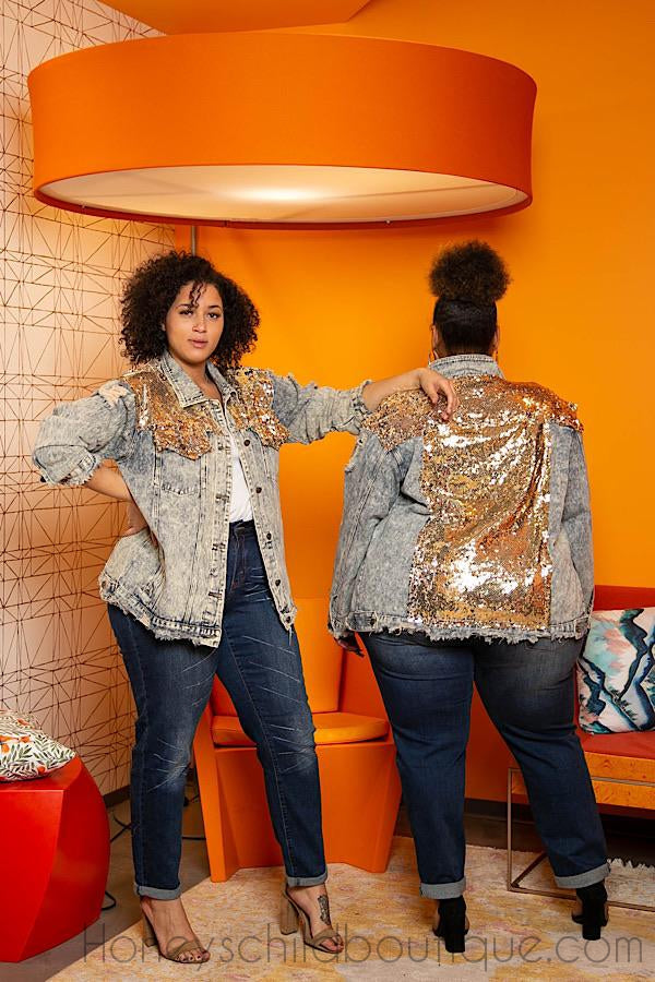 Manchester Sequins Denim Jacket