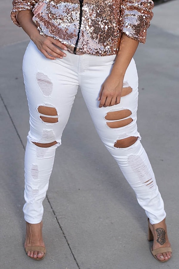 Alter Ego Distressed Jeans
