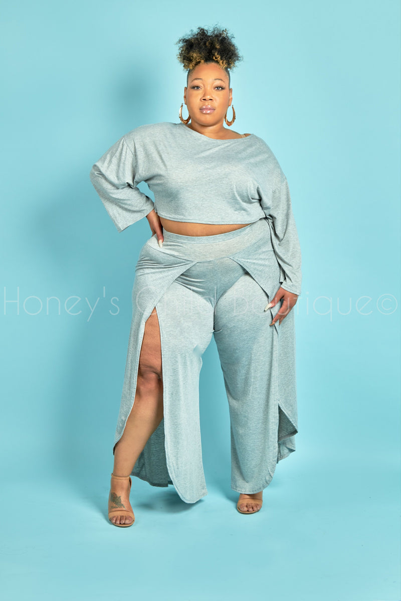 Good Life Split Palazzo Pants Set