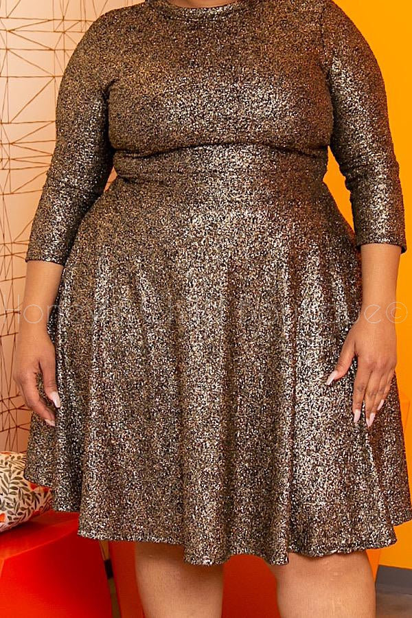 All That Glitters Fit & Flare Dress
