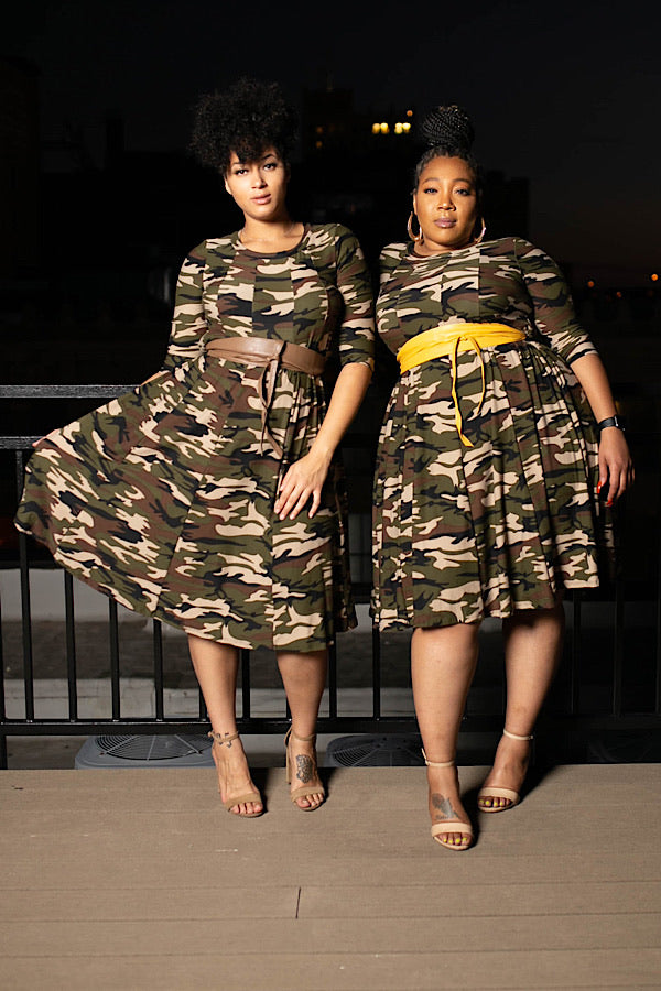 Major Camo Swing Dress