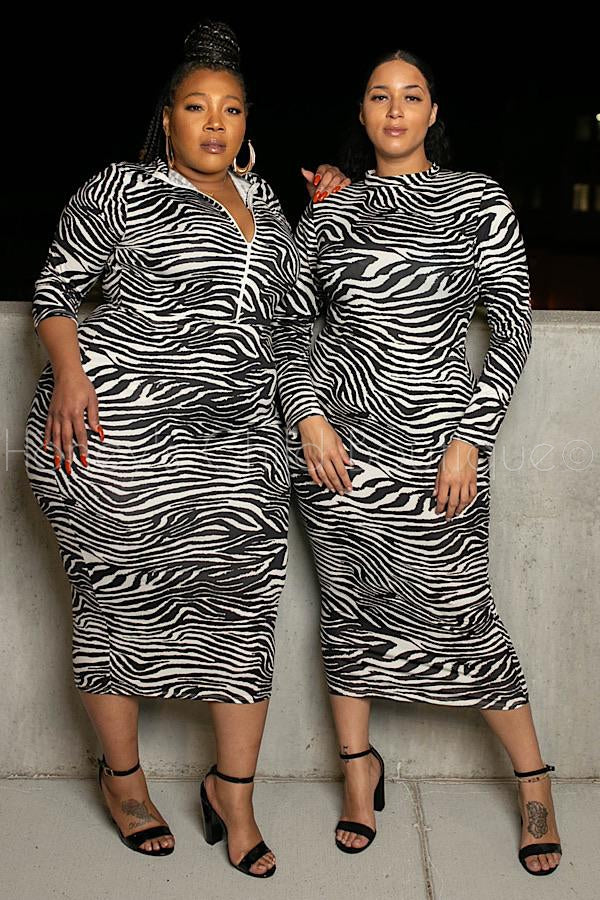 Jada Zebra Bodysuit and Skirt Set