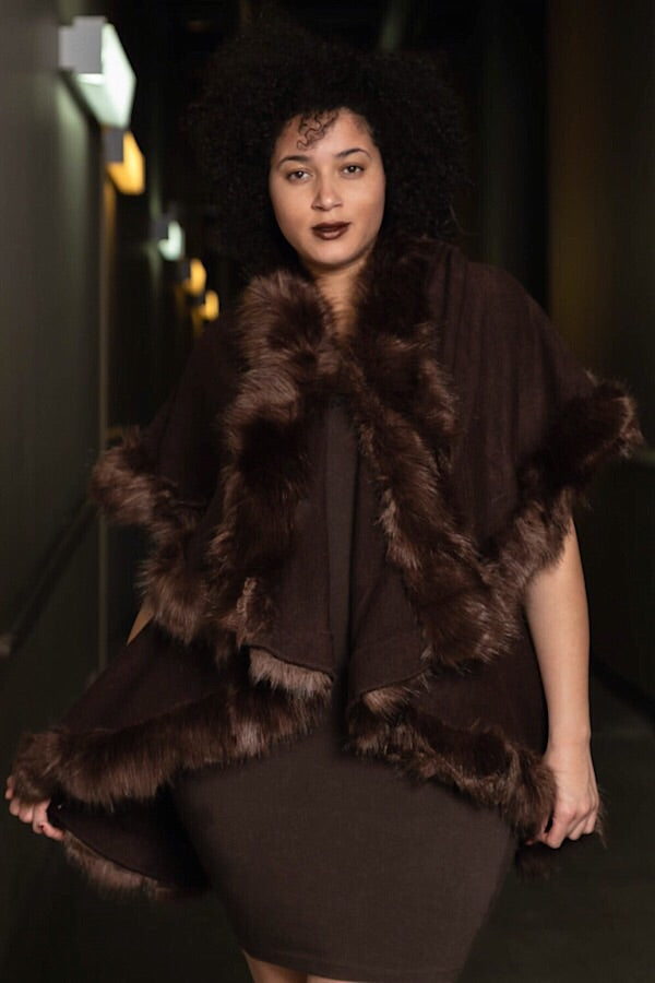 Cocoa Nights Faux Fur Vest