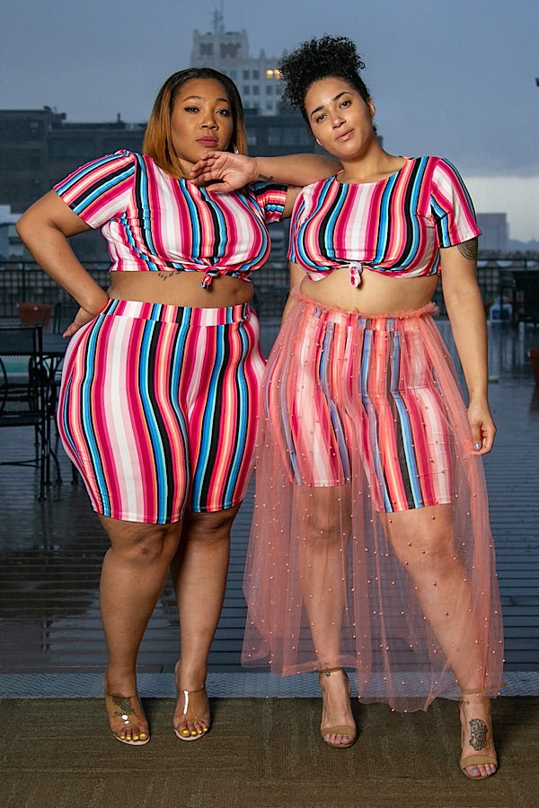 Candy Stripe Short Set