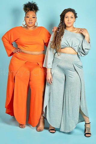 Stand Up Crop Top & Pants Set