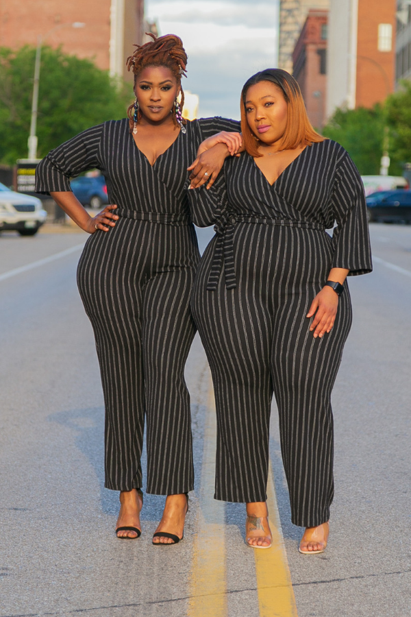 Upgrade You Pinstripe Jumpsuit