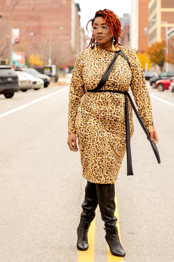 Shukuru Leopard Midi Dress