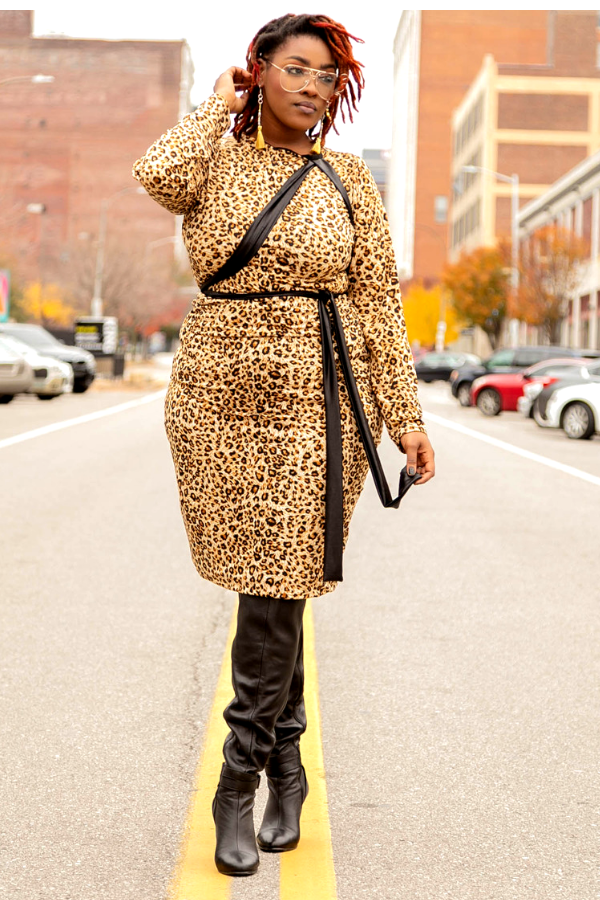 Shukuru Couture Leopard Midi Dress