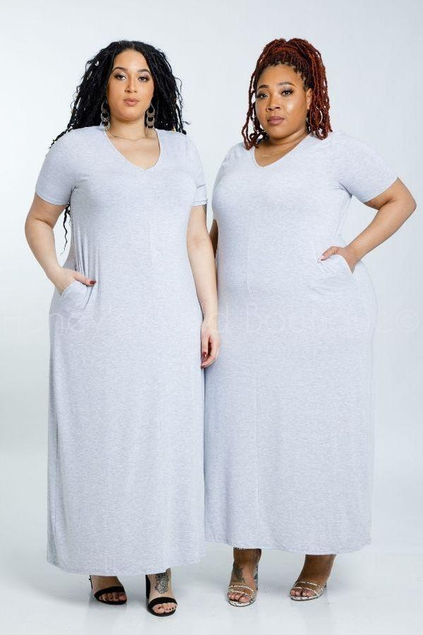 My Weekend T-Shirt Maxi Dress-210 Maxi Casual-Zenana-[plus_size]-Honey's Child Boutique