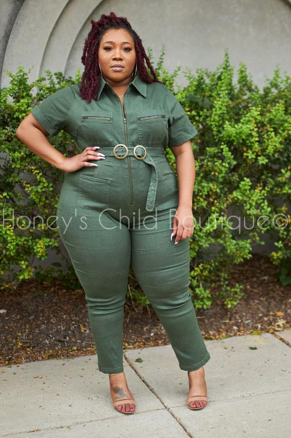 Olive You Denim Jumpsuit (1x-4x)-400 Romper/Jumpsuits-Latiste-[plus_size]-Honey's Child Boutique