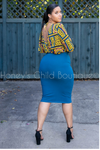 On the Way Midi Pencil Skirt - Fall Colors