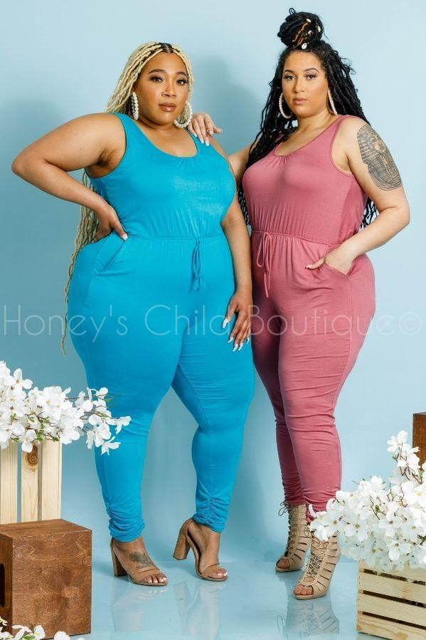 One and Only Jumpsuit-400 Romper/Jumpsuits-Jeanette Plus-[plus_size]-Honey's Child Boutique