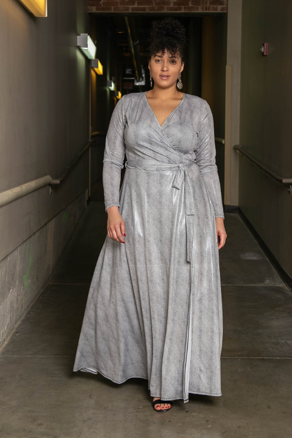 Quick Silver Metallic Maxi Dress