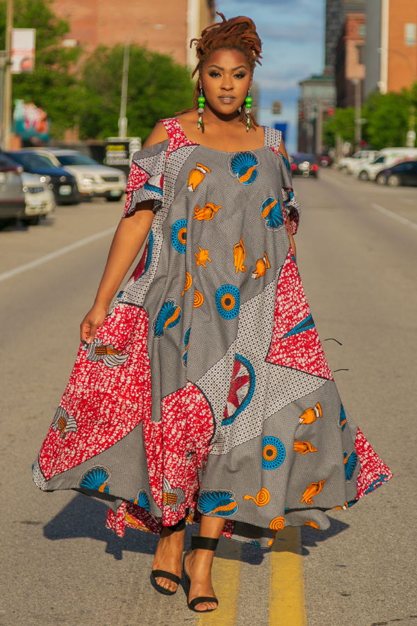Sea Me Ankara Maxi Dress
