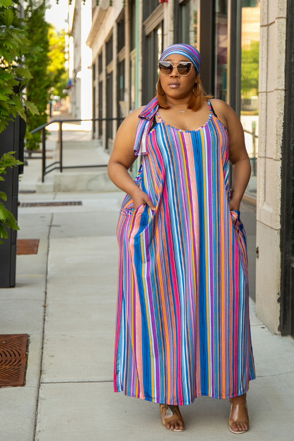 Tuscany Stripe Maxi Dress