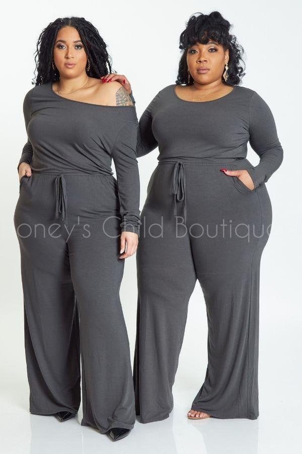 Uncomplicated Wide Leg Jumpsuit-400 Romper/Jumpsuits-Zenana-[plus_size]-Honey's Child Boutique