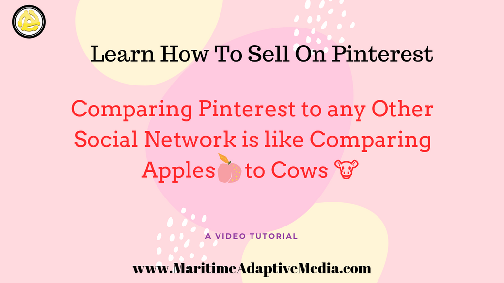 Comparing Pinterest to any other social network is like comparing 🍎 Apples to 🐮 Cows
