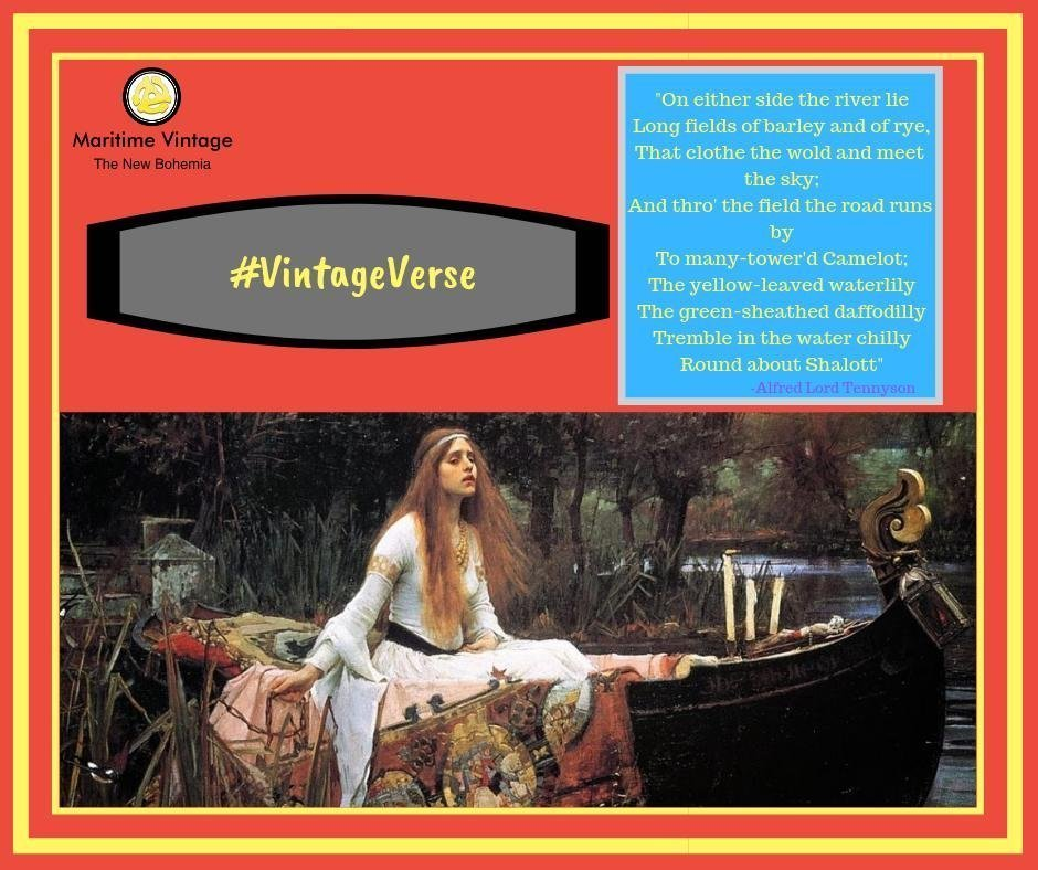 #VintageVerse | The Lady of Shalott 💛 | Can Art & Culture Co-mingle in #Brand Marketing?
