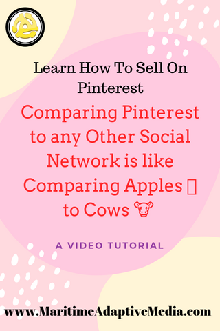 Comparing Pinterest to any other social network is like comparing Apples 🍎 to Cows 🐮