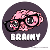 Brainy Brainiac Science Sticker