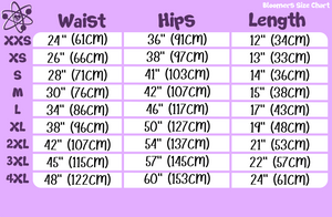 Bloomers Size Chart