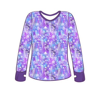 Brainless Blooms Long Sleeve Lounge Top w/ Thumb Holes