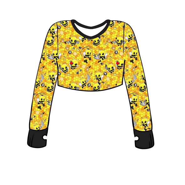 Hive Heroes Long Sleeve Crop Top w/ Thumb Holes