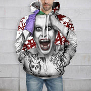 Autumn Fashion Harajuku Suicide Squad Joker Thin Cap Unisex Sweatshirts 3d Print Men/women Hooded Hoodies Casual Hoody Tops with Pocket