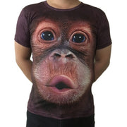 Hot Tops  Lovely Stereoscopic 3D Monkey Print Vest T-shirt Sleeveless Men Top summer Men's Fashion amusing Creative Personality