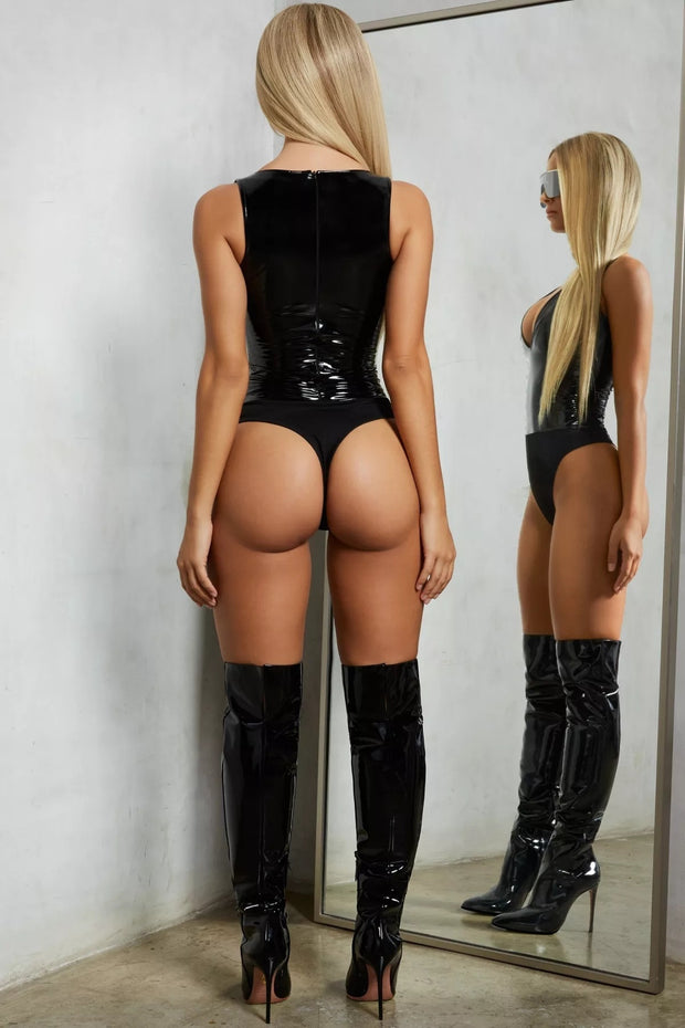 Body de latex sexy.