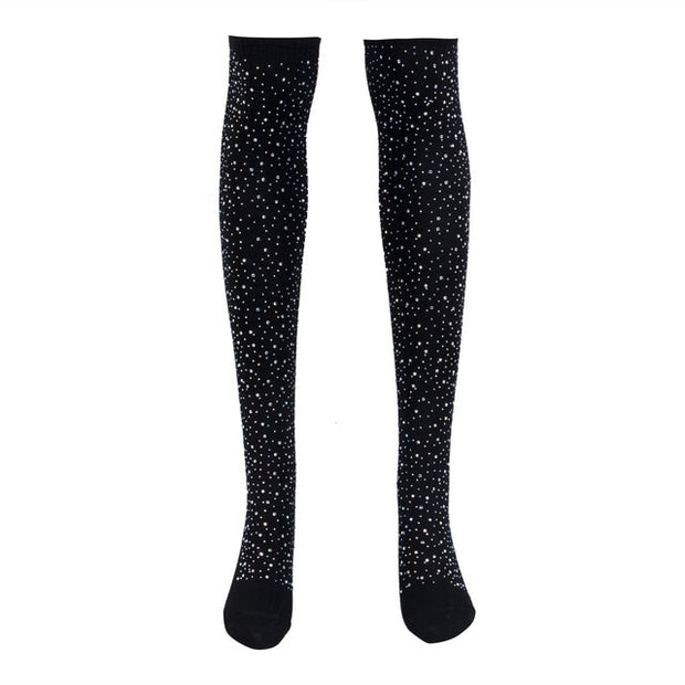 Bling Bling 1Pair Women Thigh High Over the Knee Socks Long Cotton Stockings Stocking Sexy Thigh High Stockings for Women