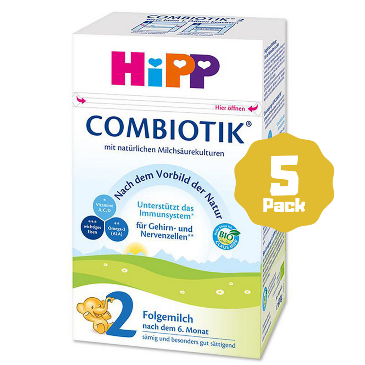 HiPP Stage 2 Organic Follow-on Formula Combiotik® (6 Months+) (5 Pack)
