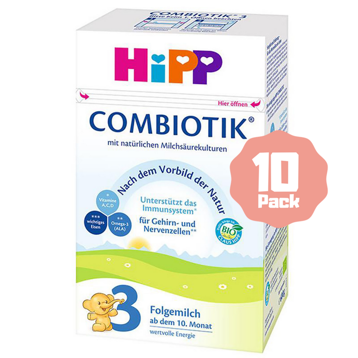 HiPP Stage 3 Organic Follow-on Formula Combiotik® (10 Months+) (10 Pack)