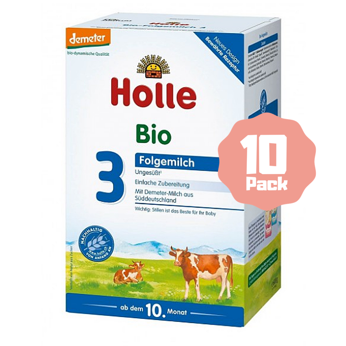 Holle Stage 3 Organic Baby Cow Milk Formula (10 Months+) (10 Pack)