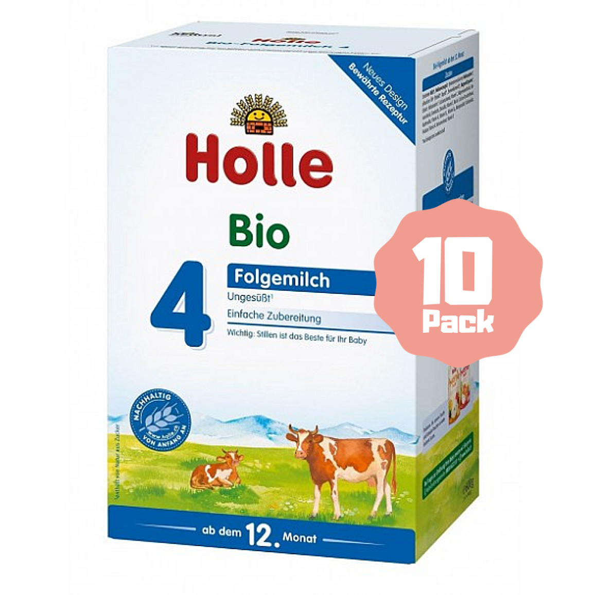 Holle Stage 4 Organic Toddler Cow Milk Formula (12 Months+) (10 Pack)