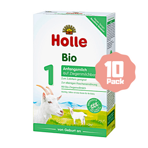 Holle Stage 1 Organic Infant Goat Milk Formula (0 Months+) (10 Pack)