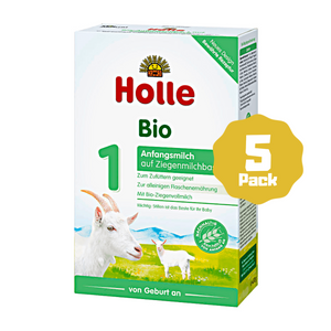 Holle Stage 1 Organic Infant Goat Milk Formula (0 Months+) (5 Pack)