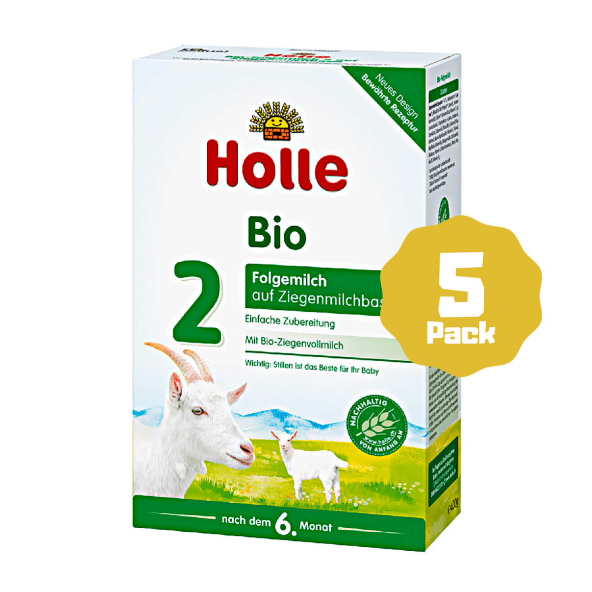 Holle Stage 2 Organic Follow-on Infant Goat Milk Formula (6 Months+) (5 Pack)